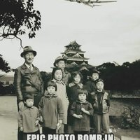 Back in 1945 when photobombers were REAL