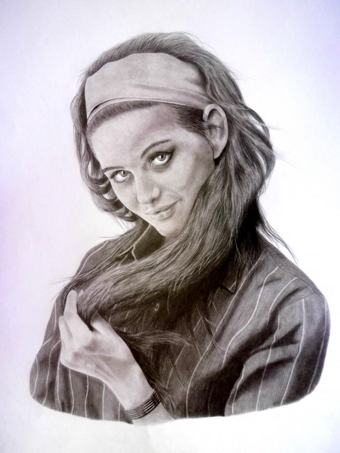 Claudia Cardinale Kresba Ceruzkou Je To Na Formate A3 A Trvalo Mi