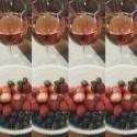 dnešná večera...ružové víno a ovocíčko... healthyasfuck!