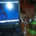 malá karafka oroseného vínka a Dracula *_* friday night jak vyšitá :)