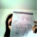 Ladyofcarnage mi povedala, aby som ako antistresové cvičenie kreslila kone. Síce je to v mizernej kvalite, ale na druhý pokus (prvý je hore a nie je ho poriadne vidieť) to nie je až tak zlé :D