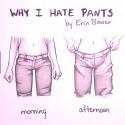 babske nohavice a ich nedostatky