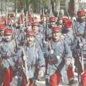 francuzska pechota v roku 1914 na začiatku prvej svetovej vojny
