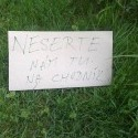 Nápis v Nitre v parku.