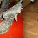 vytiahla som boty po pár rokoch z pivnice :D a čo dokáže kusok vody a handry :D